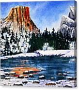 Yosemite In Winter II Canvas Print