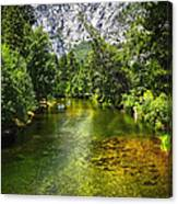 Yosemite Merced River Rafting Canvas Print
