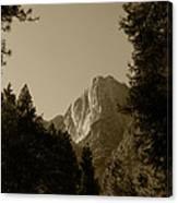 Yosemite Park Sepia Canvas Print