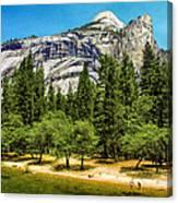 Yosemite Valley Along Yosemite River Beach Canvas Print