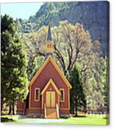 Yosemite Valley Chapel Lomo Canvas Print