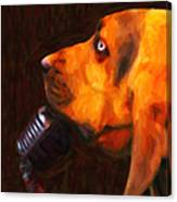 You Ain't Nothing But A Hound Dog - Dark - Painterly Canvas Print