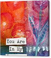 You Are In My Prayers- Watercolor Art Card Canvas Print