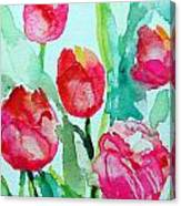 You Enlighten Me- Painting Of Tulips Canvas Print