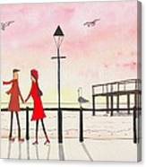 You Me And The Seagulls Canvas Print