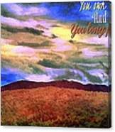 You Own The Skies Canvas Print