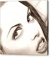 Young Angelina Jolie Canvas Print