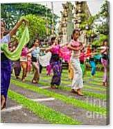 Young Bali Dancers - Indonesia Canvas Print