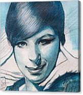 Young Barbra Streisand Canvas Print