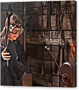 Young Blacksmith Girl Art Prints Canvas Print