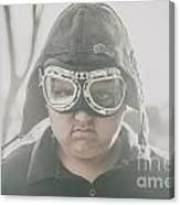 Young Boy Pilot. Battle Ready Canvas Print
