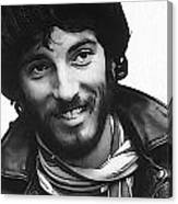 Young Bruce Springsteen Canvas Print