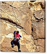 Young Climber In Joshua Tree Np-ca- Canvas Print
