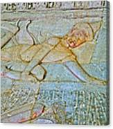 Young God-figure On Wall In Angkor Wat In Angkor Wat Archeological Park Near Siem Reap-cambodia Canvas Print