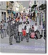 Young Jews In Venice Canvas Print