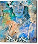young lady in Papeete Canvas Print