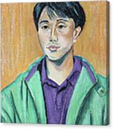Young Man In A Green Jacket Canvas Print