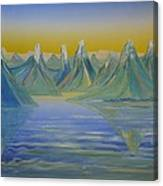 Young Mountains In Lofoten. Canvas Print