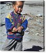 Young Nepalese Girl In Manang Canvas Print