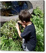 Young Photographer Canvas Print