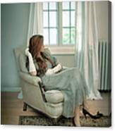 Young Woman In A Chair Canvas Print