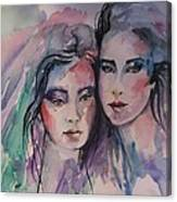 Young Women  Canvas Print