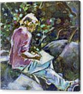 Young Writer Canvas Print
