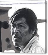 Young Yaqui Man New Pascua Arizona 1969 Canvas Print