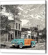 1946 Ford Sports Man Convertible  In Hillsboro N M  Canvas Print