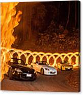 Your Cars On Fire Canvas Print