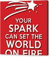 Your Spark Red Canvas Print