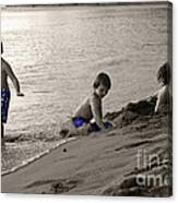 Youth At The Beach Canvas Print