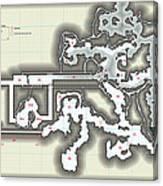 Yrchyn The Tyrant Kobold Lair Map Canvas Print