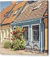 Ystad Cottages Canvas Print