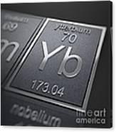 Ytterbium Chemical Element Canvas Print