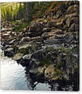 Yuba River Rocks Canvas Print