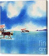Yubu Island-water Buffalo Taxi  Canvas Print