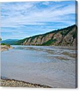 Yukon River As It Heads Northeast To The Arctic Circle-yt Canvas Print