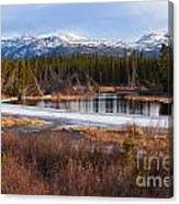 Yukon Taiga Wetland Marsh Spring Thaw Canada Canvas Print