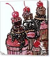Yum Candy Cupcake Canvas Print