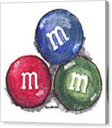 Yummy M And Ms Canvas Print