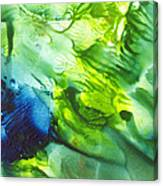 Yupo Blue Ice Canvas Print