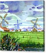 Zaanse Schans Windmills Canvas Print