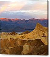 Zabriskie Point Sunrise Death Valley Canvas Print