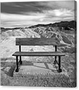 Zabriskie's Bench Canvas Print