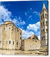 Zadar Cathedral Famous Landmark Of Croatia Canvas Print