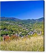 Zagreb Hillside Green Zone Nature Canvas Print