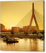 Zakim Bridge Sunset Canvas Print