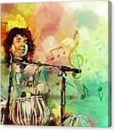 Zakir Hussain Canvas Print