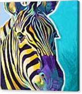 Zebra - Sunrise Canvas Print